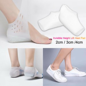 1 Par 2/3/4 centímetros Invisible altura de elevação Heel Pad Sock Liners Aumentar Aliviar Palmilha Pain For Women Men Top Quality Palmilha