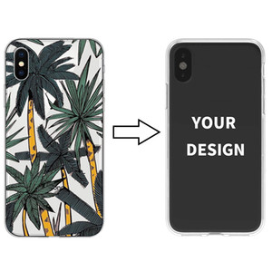 65pcs Custom Design DIY Logo Photo Soft Clear Phone Case For iPhone Xs X Customized Printed Back Cover for Samsung S10 S10 Plus