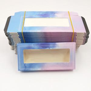 kirpik paket yumuşak kağıt kutusu rengi karton ile tepsi 25mm Kirpikleri DIY özel Logo flaş ambalaj kutusu için YENİ 10 ayar Ambalaj kutusu