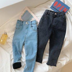 Winter Baby verdicken Jeans koreanische Art-Kind-Kleidung elastische dünne Kinder-Denim-Hosen 2 Farben