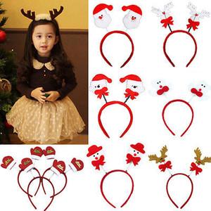 Natale Fasce Santa Cappelli Snowman Fasce Reindeer Xmas Kid regalo Costume