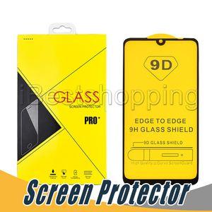 Vidro temperado 9D Creen Protector Anti-estilhaçamento Film Para iphone X XS Max XR 6 6s 7 8 mais Com pacote de varejo