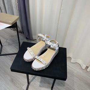 2020 Deri Kırmızı Alt Bayanlar Sandalet Bilek Kayışı Toka Kayış Pira Ryad klasik sandal yazlık Kırmızı deri 110 / 60mm kama platformu tabanı