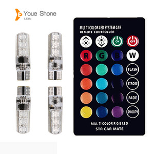 LED Youe Shone W5W ha condotto T10 luci CANBUS LED RGB T10 RGB Remoto Lampade Auto Lampade Lampadine per auto Fiala Voiture