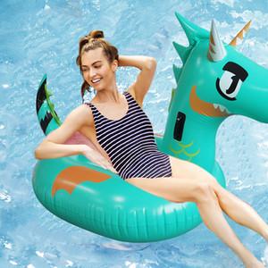 Novità del galleggiante 175 centimetri Giant Green Dragon piscina gonfiabile per adulti bambini dinosauro T-Rex di anello di nuoto Acqua Materasso Beach Party Giocattoli