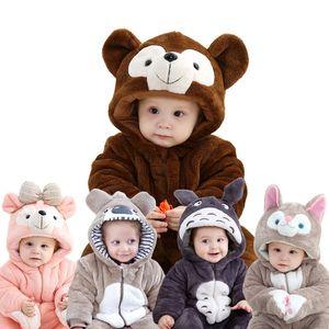 2018 Escalada de invierno ropa de bebé de 3-6 meses de bebé mono cabo grueso de algodón acolchado de invierno animal de modelado Serie 2