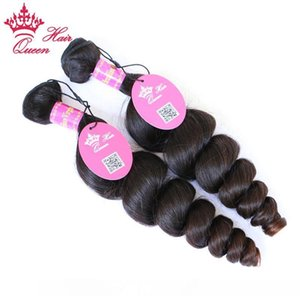 H Queen Hair Brazilian Loose Wave 3 Bundles Human Hair With Lace Closure Free Part Natural Color Free Shipping Virgin Hair