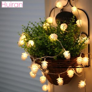 HUIRAN Pine Cones Merry Christmas Led Lights Outdoor Christmas Decoration For Home Tree Ornaments Xmas Dropshipping
