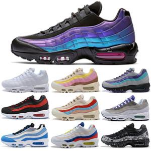Nike Air Max 95 airmax Sconto scarpe da corsa per donna Uomo TT Pull Tab Aqua Plant Color Neon Graed Bred Uomo Sneakers sportive 36-45
