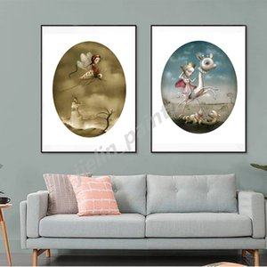 Nicolettas Ceccolies With Home Girl Picture Wall Art HD Prints Canvas Painting Background Home Decoration Artwork Poster