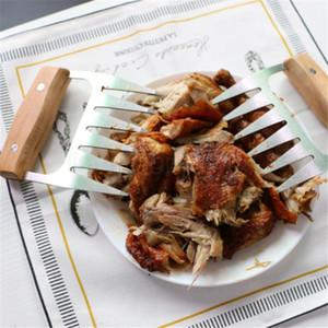 Madera de acero inoxidable garra de oso Barbacoa Carne de cerdo Garras cocina cómoda Shredder Trituración barbacoa bifurcaciones múltiples funciones herramienta FFA3115