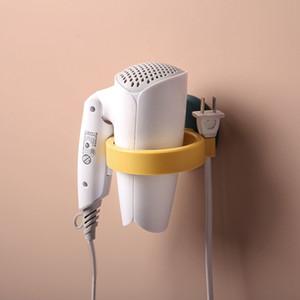 Secador de pelo estante estante estante de baño secador de pelo montado en la pared del inodoro almacenamiento de corte libre estante secador de pelo