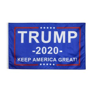 2020 Trump Flags Keep America Great Decor Polyester Fashion Accessories Donald Trump for President Campaign Banner 90*150cm 8 Designs Stock