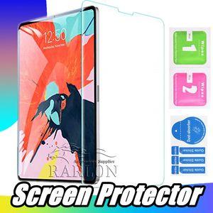 아이 패드 Ipad에 강화 유리 9H 명확한 스크린 보호자는 포장없이 미니 2 3 4 5 6 공기 2 3 10.2 2019 12.9 인치 프로