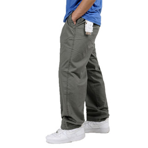 Large Size Men Tactical Baggy Straight Trousers Pants Cargo Overalls Casual Pants Plus Size 6XL