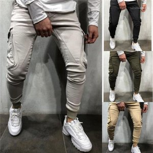 Casual Cool Loose Pocket Long Pencil Pants Mens Fashion Pants Mens Designer Pants Solid Color Autumn