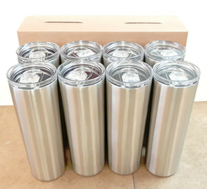 Straw Tumbler Skinny Travel Tumbler with Lid Vacuum Insulated Double Wall Stainless Steel 20oz 30oz for Coffee Tea MMA2513-A4