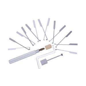 14PCS Dimple Lockpick conjunto abridor de bloqueio escolher para ferramentas de serralheiro + 1pcs bloqueio prática transparente