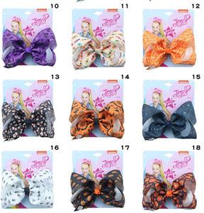 Nuovo Jojo Siwa Nastro per capelli Halloween arco 5inch Boutique Accessori Nastro per le neonate Toddlers bambini