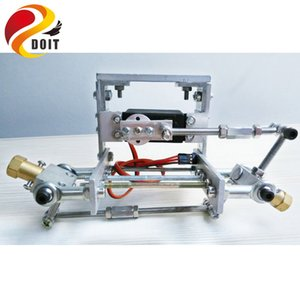 Quadro do chassi do metal, Steering Engine Steering Robot Car Chassis, obstáculo Avoidance, Velocity, Universal Wheel