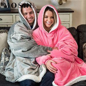 Зимние женские толстовки толстовки теплые открытые пальто с капюшоном находятся с капюшоном одеяло халат халат флис одеяло толстовки женщин