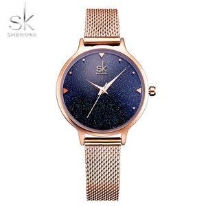 2020 Art und Weise elegante Quarts Frauen-Uhr-Rose Gold Damen-Armbanduhr der neuen Damen Marke Luxus Relogio Feminino Reloj Mujer