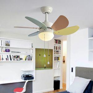 Светодиодный потолочный вентилятор Ventilador De Techo Kid Fan Lights Дети Охлаждающие потолочные вентиляторы для детской комнаты Детские осветительные приборы Вентиляторы