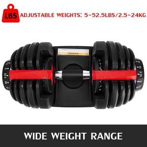 NEW الوزن قابل للتعديل الدمبل 5-52.5lbs للياقة البدنية التدريبات الدمبل هجة قوتك وبناء العضلات ZZA2196 2PCS