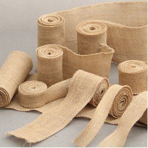 Home textiles 1 roll 1M natural linen roll gift wrapping paper wedding chair decoration tableware bag packaging fork and knife pocket