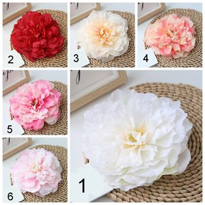 16cm Yapay Çiçekler Büyük Şakayık Çiçek Kafa 10 Renkler Yüksek Sınıf Simülasyon Sahte Çiçek Parti Düğün Ev Dekorasyon BH1774 CY Malzemeleri