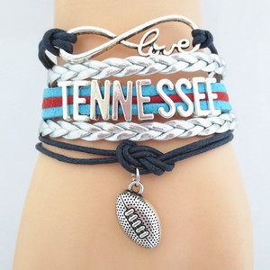 Jewelry Infinity Love TENNESSEE football Team Bracelet friendship Bracelets B09075