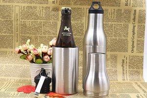 Бутылки для воды Cooler Чашки из нержавеющей стали Цвет металла Вакуумные Творческий спортивной двойной изоляцией Обложка Drinkware 27sx E1