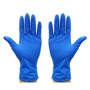 قفازات المتاح الأزرق النتريل سميكة لبس التنظيف المنزلية قفازات واقية مكافحة ساكنة المطاط 100pcs التي في الأوراق المالية