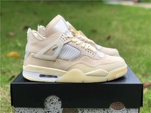 2020 uscita Off autentici 4 SP WMNS scarpe da basket mussola bianca Nero Zapatos Sail Bred CV9388-100 atletico delle scarpe da tennis Taglia 40-47