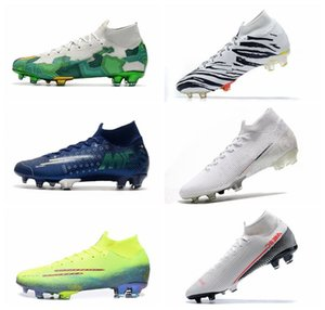 New South Korea Zebra Mercurial Superfly 7 VII Elite FG Soccer Cleats Nuovo White Kinetic Hero Neymar Speed LAB2 Future Lab Boots