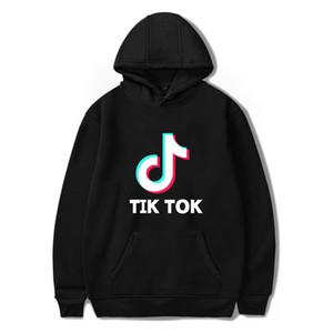 Tik tok yazılım 2019 Yeni Kapşonlu Kadınlar Baskı / Erkek popüler Giyim Harajuku Casual Sıcak Satış Kapüşonlular 4XL sweatshirt'ü