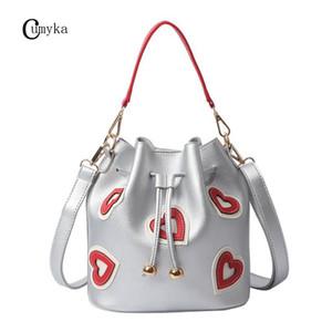 New Love Handbag Women Fashion Heart Shoulder Bag Ladies Bucket Bag PU Crossbody Messenger Bags CUMYKA