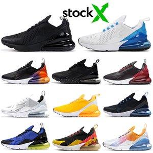 Nike Air Max 270 airmax FLORAL Zapatillas de running para mujer Hombre Zapatos SE Triple Negro Blanco RAINBOW HEEL Mens Trainer Sport Sneakers 36-45