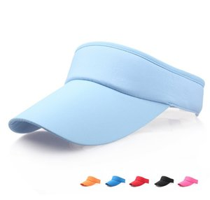 Large Brim Mesh Clip On Visors Cappellini da sole Sport Hat For Women Men Visiera parasole regolabile Tennis Golf Fascia in cotone Cappello Snapback