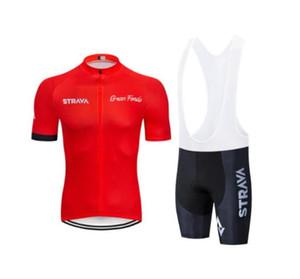 2019 Strava Ciclismo Jersey Set Estate asciutta rapida del vestito Team Moto Abbigliamento Ropa Ciclismo MTB biciclette abbigliamento outdoor Breve Sport zestore
