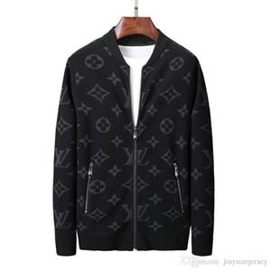 Мужчины Женщины Дизайн пальто куртки Luxury Толстовка Толстовка с длинным рукавом осень Спорт молния Марка Ветровка мужская Одежда Плюс Размер толстовки