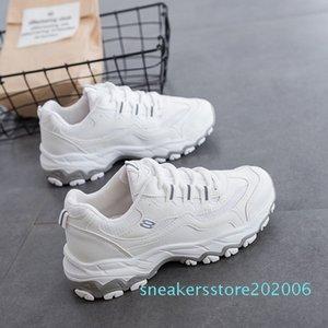 Ake Sia femenino ocasional de las mujeres cómodo Mujer Señora cordones de las zapatillas Chaussure Espesar Soled Waddle Ocio zapatos que caminan s06