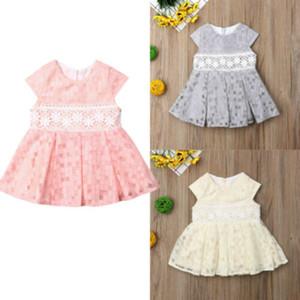 3-24M Baby Girls Princess Flower Dress Clothing Kids Toddler Party Wedding Pageant Tulle Tutu Dresses Sundress