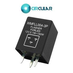조정 가능한 주파수 자동 점멸 장치 보편적 인 방수 우회 신호 지시자 3Z 3 PIN 12V 0.1W-150W는 스위치를 방수 처리합니다