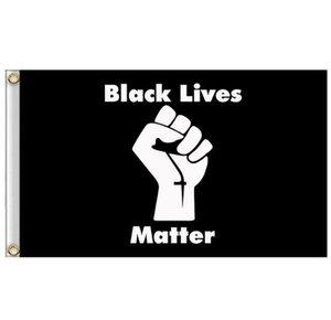 90x150cm NEGRO VIVE LA MATERIA Bandera Banderas Negro pancarta de protesta estadounidense Banderas del desfile de fiesta puede costumbre GGA3432-2N