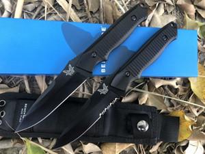 Herramienta de la supervivencia del engranaje benchmade 140BK cuchillo de hoja recta fija EDC camping mariposa Allen Elishewitz cuchillo de diseño de 140 Nimravus navaja