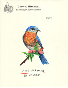 Wes Lang Artworks Blue Bird Move Forward To Nowhere Art Print Poster Photopaper 16 24 36 47 inches