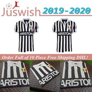 19 20 desgaste del fútbol Mew gratuito de entrega retro clásico 1984 1985 Juventus camiseta de fútbol Camiseta de fútbol S-2XL Mayorista