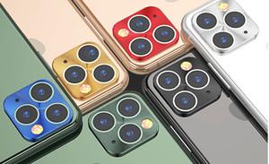 Camera Lens pellicola protettiva per iPhone Pro 11 Max metallo protezione della copertura della macchina fotografica len per iPhone Pro 11 Max coperchio della fotocamera 7 colori