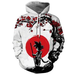 2019 Herren Seven Dragon Beads Digitaldruck 3D Kapuzenpullover Hoodie Langarm Pullover Cartoon Sweater